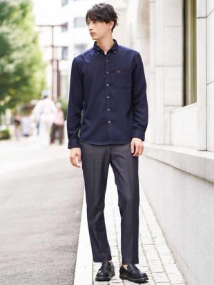 グリーン 【蓄熱保温】サンライトキモウシャツ[WEB限定サイズ] a.v.v HOMMEを見る