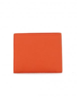 オレンジ セイム レザー 二つ折り 財布を見る