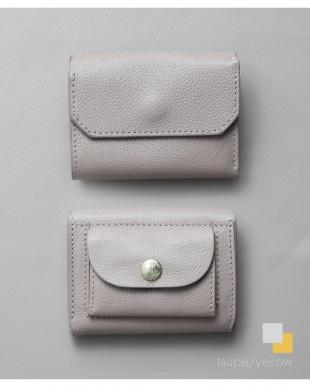 トープ/イエロー 「なくさない財布」 小さくて使いやすく、とても安全な ミニ財布 。を見る