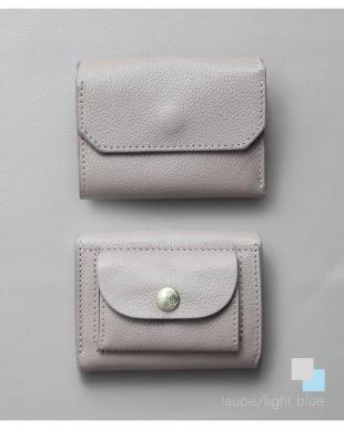 トープ/ライトブルー 「なくさない財布」 小さくて使いやすく、とても安全な ミニ財布 。を見る