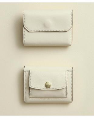 アイボリー/グレーベージュ 「なくさない財布」 小さくて使いやすく、とても安全な ミニ財布 。を見る