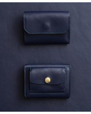 ネイビー/グレーベージュ 「なくさない財布」 小さくて使いやすく、とても安全な ミニ財布 。を見る