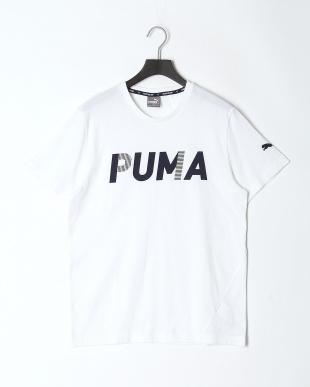 PUMA WHITE/PEACOAT MODERN SPORTS SS Tシャツ & ESS スウェットパンツ 上下setを見る