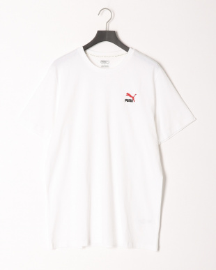 PUMA WHITE/COTTON BLACK CLASSICS エンブロイダリー Tシャツ & CLASSICS エンブロイダリー スウェット ショーツ 上下setを見る