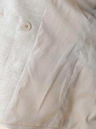 ホワイト ダブルブレストリネンジャケット TARA JARMONを見る
