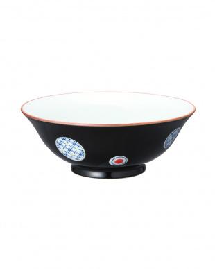 黒釉・赤釉丸紋 組麺鉢を見る
