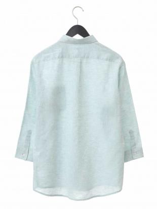 ブルー 【吸水速乾】イージーケア麻ポリエステル7分袖シャツ[WEB限定サイズ] a.v.v HOMMEを見る