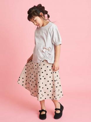 ベージュ [100-130]【洗える】ドットプリントスカート[WEB限定サイズ] a.v.v bout de chouを見る