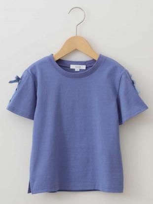 ブルー [100-130]レースアップデザイン半袖Tシャツ[WEB限定サイズ] a.v.v bout de chouを見る