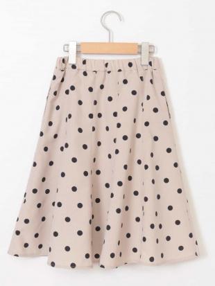グリーン [160]【洗える】ドットプリントスカート[WEB限定サイズ] a.v.v bout de chouを見る