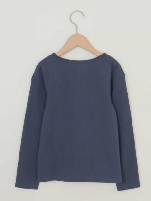 ネイビー [160]トゥインクルスパンコール長袖Tシャツ[WEB限定サイズ] a.v.v bout de chouを見る