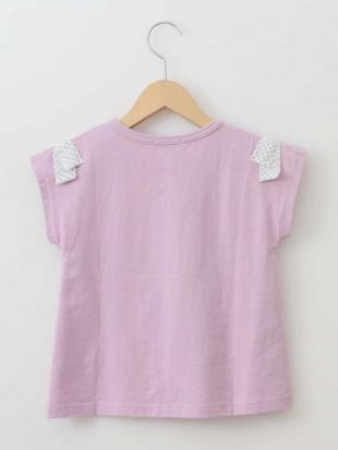 ピンク [160]ショルダーリボン半袖Tシャツ[WEB限定サイズ] a.v.v bout de chouを見る