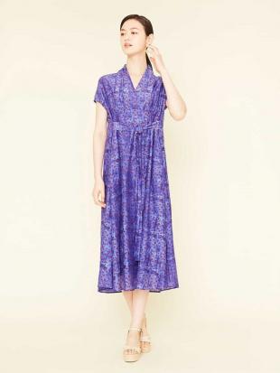 ブルー ドットプリントデザインドレス Sybilla を見る