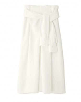 ホワイト ミドルジョーゼットフレアースカート アドーアを見る