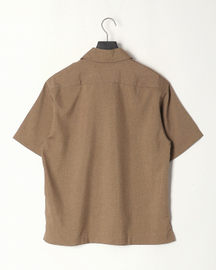 ベージュ ポリトロワーク半袖シャツを見る