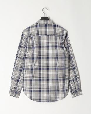 BLU コットンチェックシャツを見る
