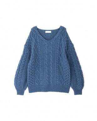 BLUE ◆ドロシーケーブル編みニット ジルスチュアートライセンスを見る
