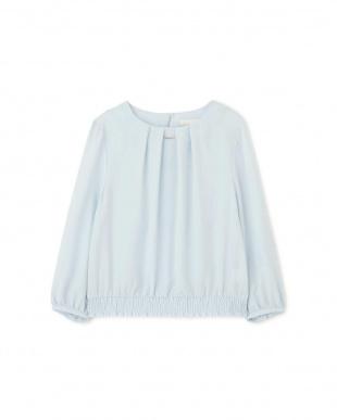 ブルー ◆ノルディス裾シャーリングブラウス NATURAL BEAUTYを見る