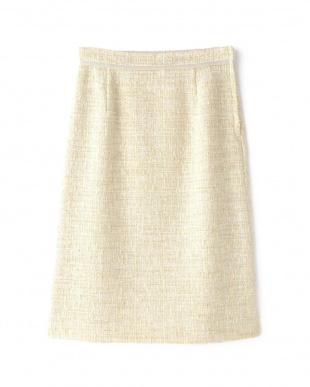 ベージュ ツィードAラインスカート NATURAL BEAUTYを見る