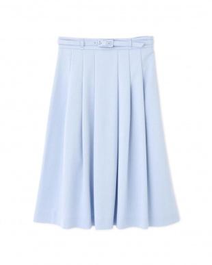 ブルー ベルト付グログランスカート NATURAL BEAUTYを見る