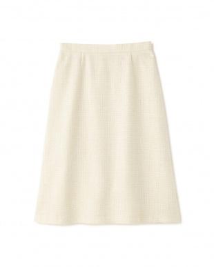 ベージュ ◆MIXツィードスカート NATURAL BEAUTYを見る