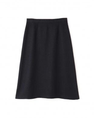 ネイビー ◆MIXツィードスカート NATURAL BEAUTYを見る