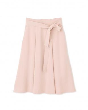 ピンク ◆ハイマルチツイルタックフレアースカート NATURAL BEAUTYを見る