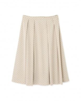 ベージュ ◆[ウォッシャブル]グラフィカルジャージープリントスカート NATURAL BEAUTYを見る