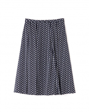 ネイビー ◆[ウォッシャブル]グラフィカルジャージープリントスカート NATURAL BEAUTYを見る