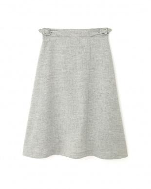 グレー ◆[ウォッシャブル]リネンライクツイルフレアーラップスカート NATURAL BEAUTYを見る