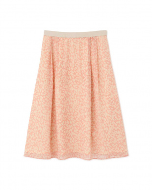 ピンク ◆グラフィカルフラワープリントスカート NATURAL BEAUTYを見る