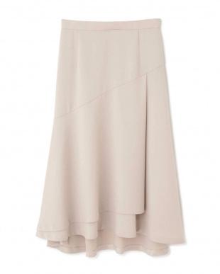 ベージュ ◆ストレッチサテンスカート NATURAL BEAUTYを見る