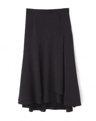 ネイビー ◆ストレッチサテンスカート NATURAL BEAUTYを見る