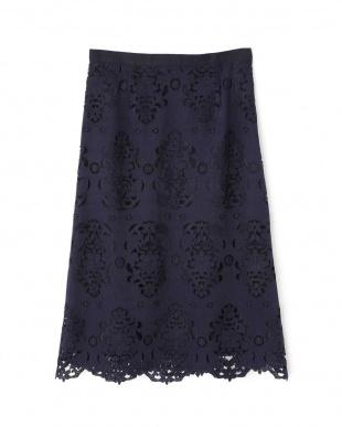 ネイビー ◆キカフラワーレーススカート NATURAL BEAUTYを見る