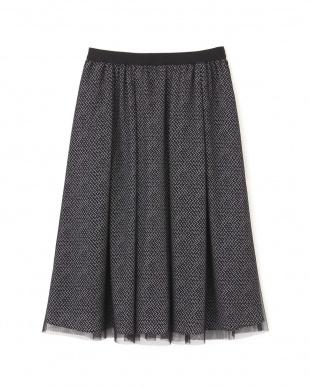 ブラック ◆ジオメトリックリバープリントスカート NATURAL BEAUTYを見る