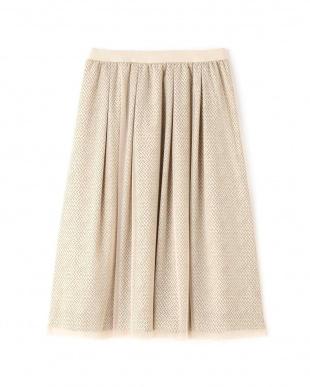 ベージュ ◆ジオメトリックリバープリントスカート NATURAL BEAUTYを見る