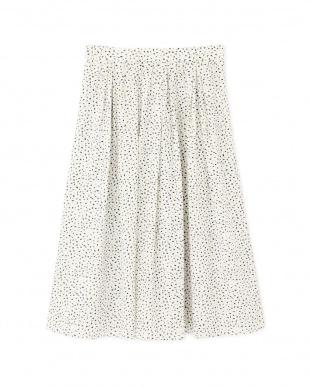 ホワイト ◆アニマルドットプリントスカート NATURAL BEAUTYを見る