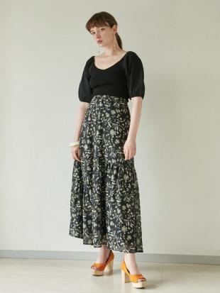 ブラック Modernフラワリングハーブスカート LAGUNAMOONを見る