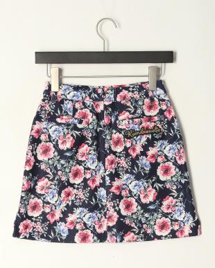 NV  花柄ポンチプリントスカートを見る