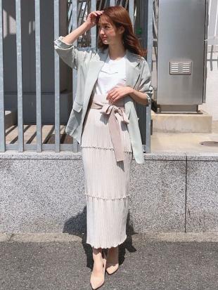 オフホワイト リブメロータイトスカート MERCURYDUOを見る