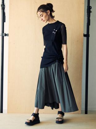 パープル タイプライターギャザースカート UN3D.を見る