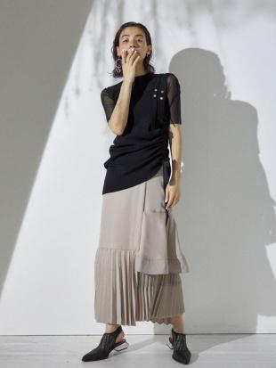 ベージュ ドッキングレイヤードスカート UN3D.を見る