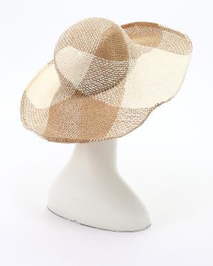 ベージュ アンダリ ソラーナ チェック HATを見る