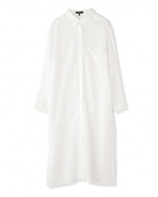 ホワイト 麻ロングシャツ BOSCHを見る