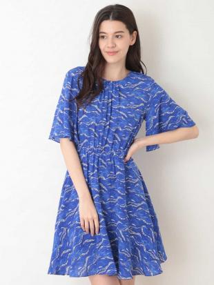 ブルー ウェーブプリントドレス TARA JARMONを見る