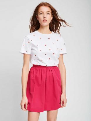 ピンク コットンギャザースカート TARA JARMONを見る