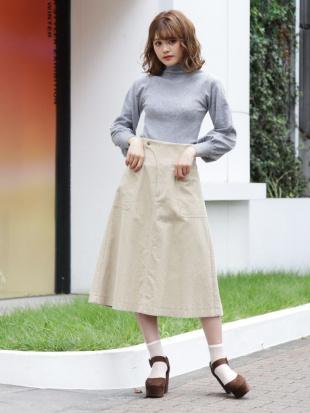 スカイブルー コールAラインスカート dazzlinを見る