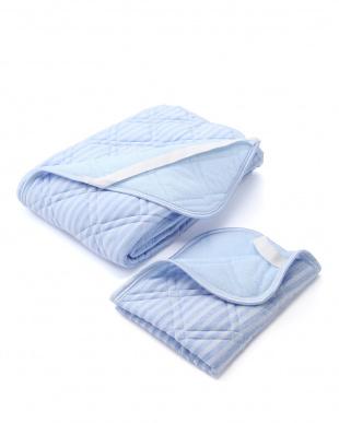 ブルー  接触冷感敷きパッド・枕パッドセットを見る