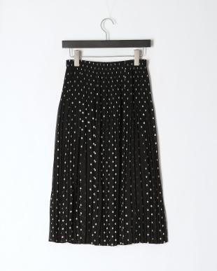 61水玉柄(ブラック系) クリスタルプリーツ シフォンスカートを見る