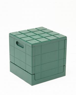グリーン グリッドコンテナー キューブ 4ケセットを見る